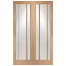 XL Joinery Worcester Oak Clear Glass Pair of Doors