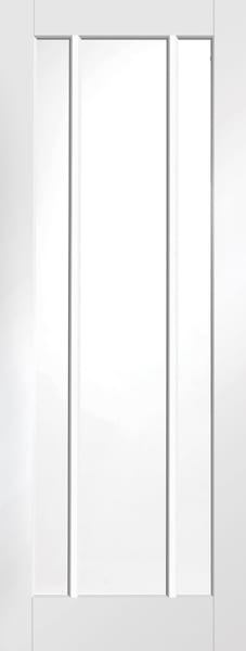 Worcester white primed door with clear glass