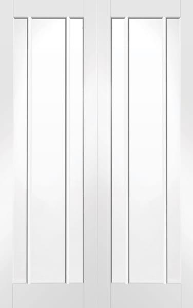 Worcester white primed rebated pair