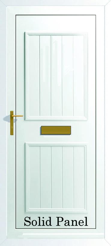 Back Door Solid panel upvc door