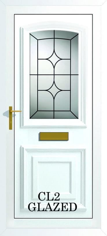 Bordeaux CL2 Glazed upvc door