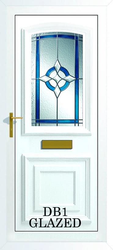 Bordeaux DB1 Glazed upvc door