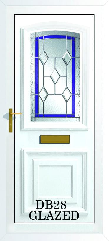 Bordeaux DB28 Glazed upvc door