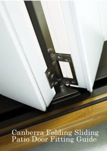Canberra Folding sliding patio fitting guide header
