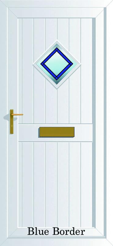 Cornwall Blue Border upvc door