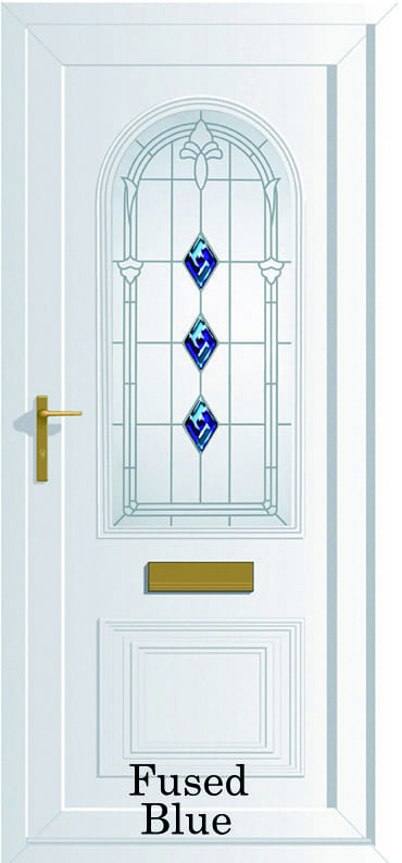 Devon Fused Blue upvc door