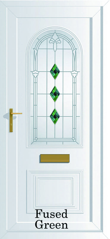 Devon Fused Green upvc door