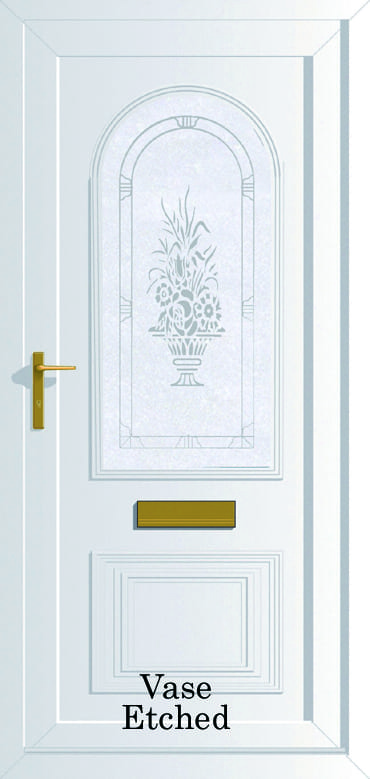 Devon Vase Etched upvc door