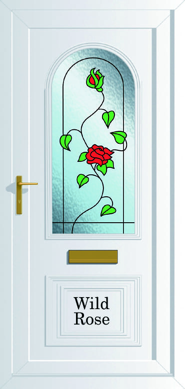 Devon Wild Rose upvc door