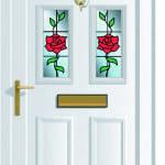 Edwardian 4 Climbing Rose upvc door