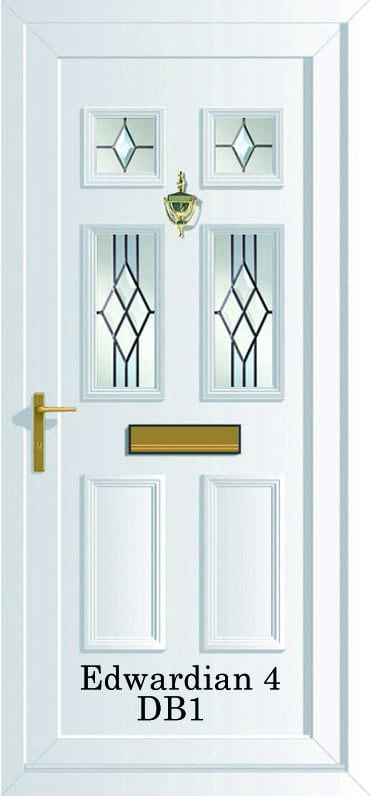 Edwardian 4 DB1 upvc door