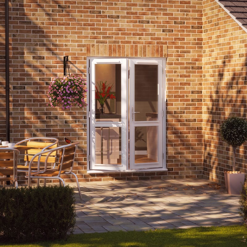 Jeld-wen French Doors FArndale 2XGG style with mid rail