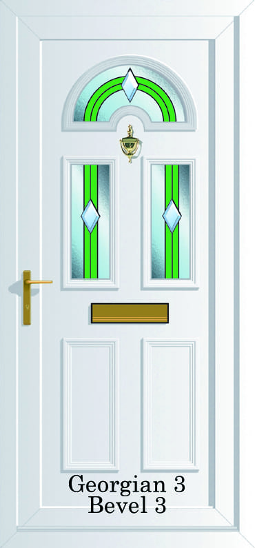 Georgian 3 Bevel E Upvc door