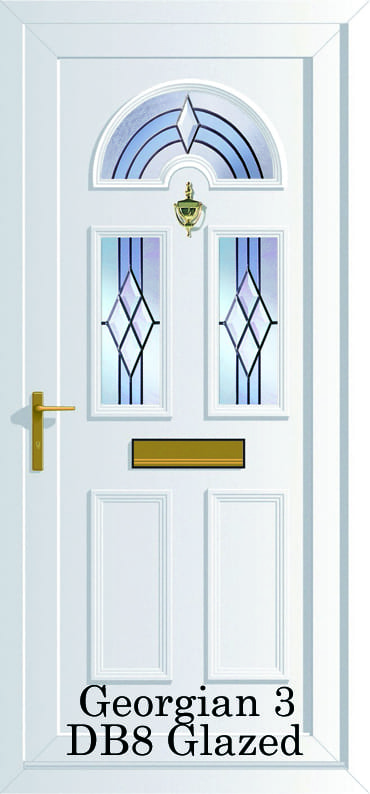Georgian 3 DB8 upvc door
