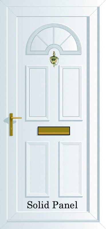 Georgian Solid panel upvc door