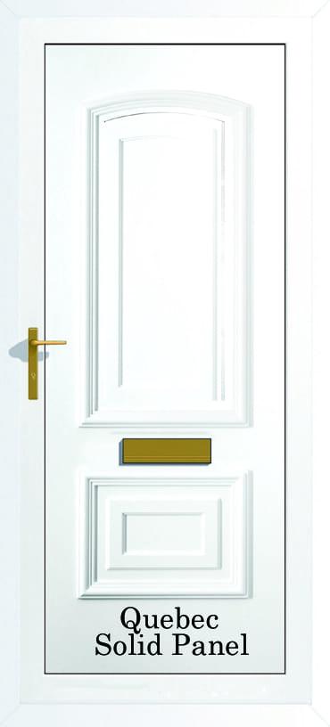 Quebec Solid upvc door