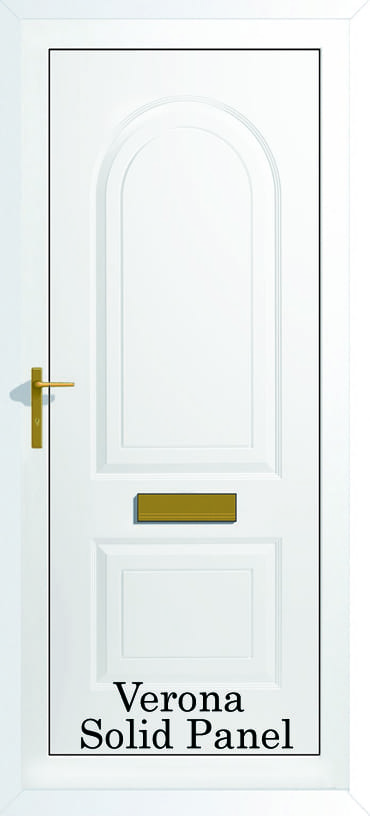 Verona Solid panel upvc door