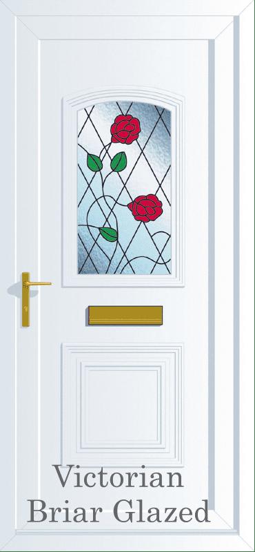 Victorian Briar Rose Upvc entrance Door