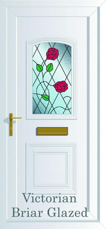 Victorian S1 Briar glazed upvc door