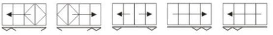 Visofold 4 door opening configurations
