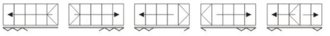 Visofold 5 door options