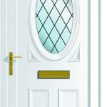 Warwick S1 Diamond Lead upvc door