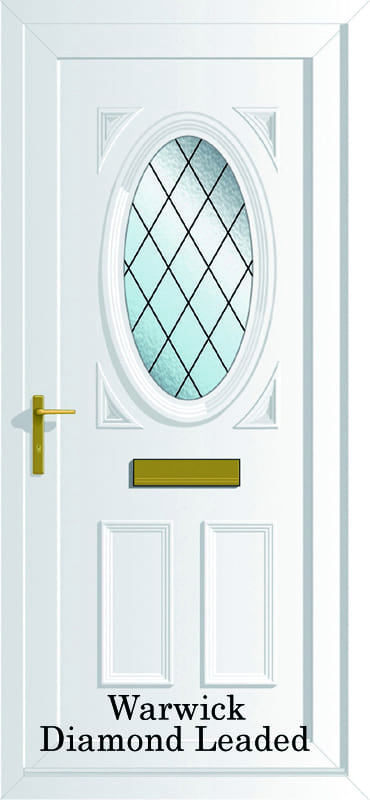 Warwick S1 Diamond Lead upvc door