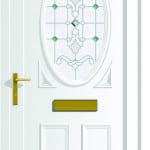 Warwick S1 Emerald Elipse upvc door