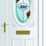 Warwick S1 House Numb Roses upvc door