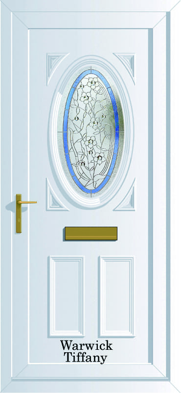 Warwick S1 Tiffany upvc door