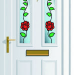 Windsor 2 Climbing Rose upvc door