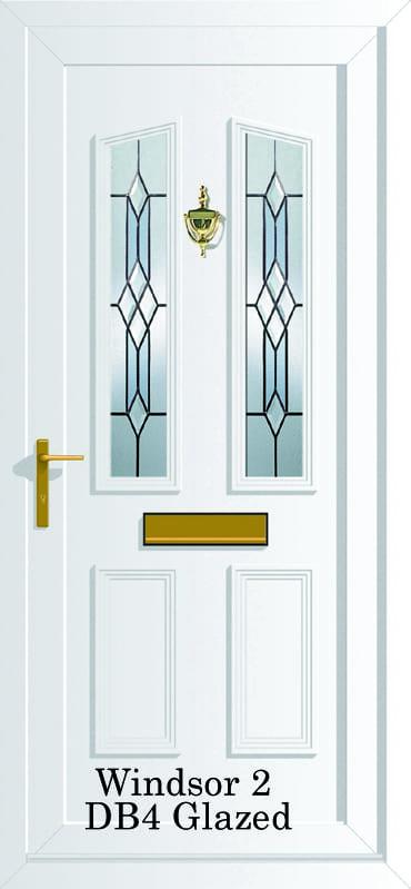 Windsor 2 DB4 glazed upvc door
