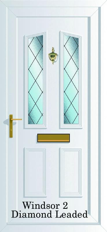 Windsor 2 Diamond Lead upvc door