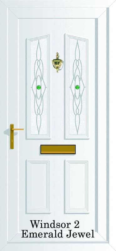 Windsor 2 Emerald Jewel upvc door
