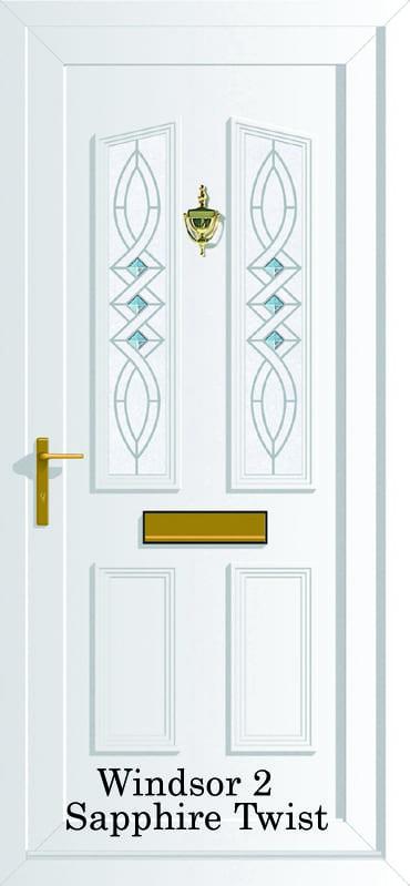 Windsor 2 Sapphire Twist upvc door