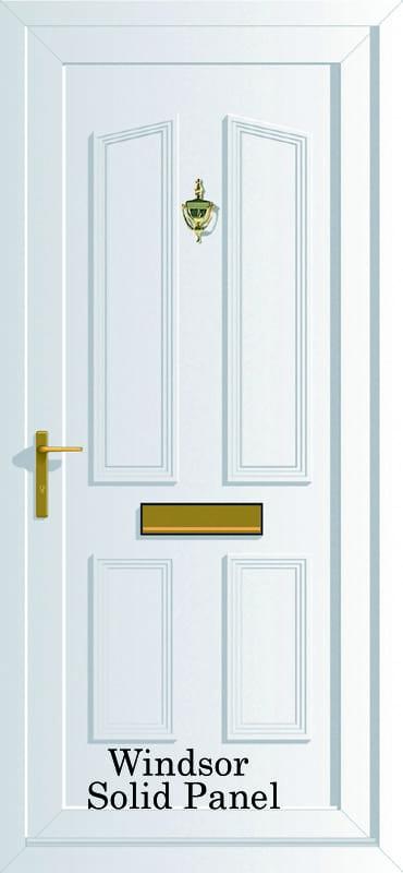 Windsor Solid panel upvc door