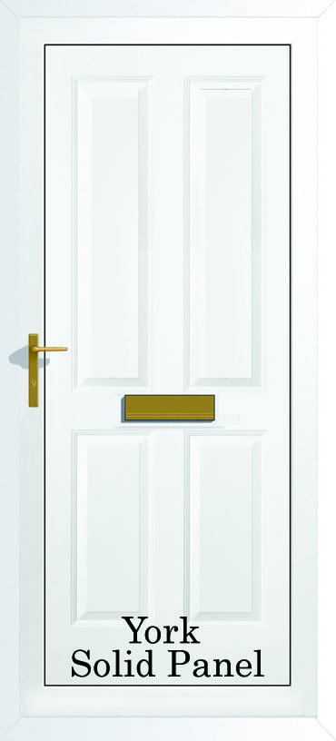 York Solid panel door