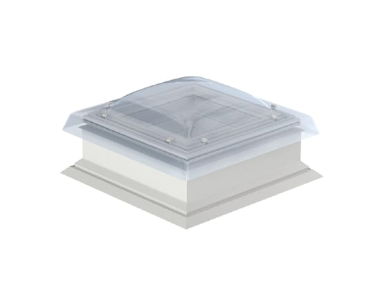 velux flat roof window with dome