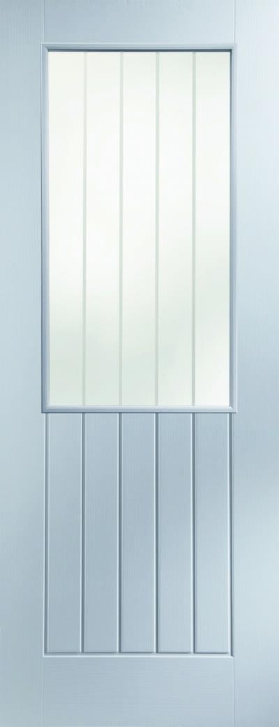 Newark etched glazed promo door