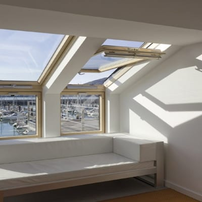 Velux Sloping and Vertical Combination 2
