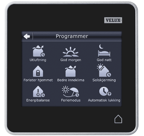 Velux control pad for electronic operation