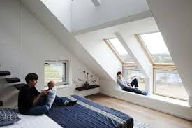 Velux sloping and vertical windows