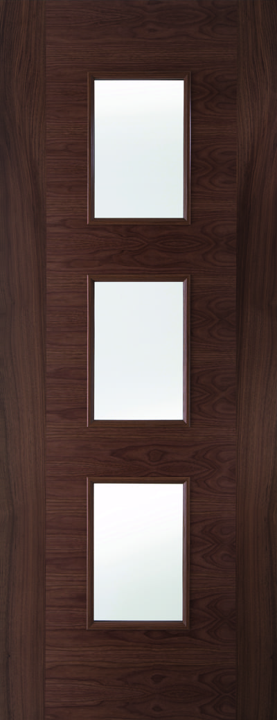 Walnut fusion glazed promo doors