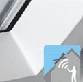 White Integra electric centre pivot windows