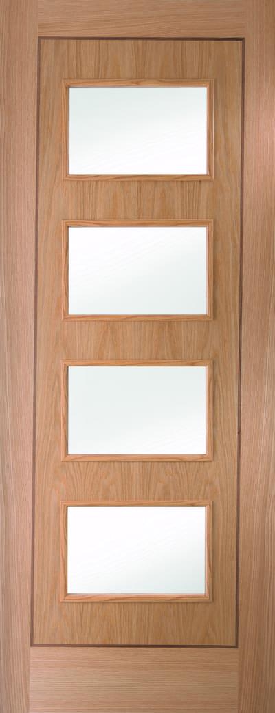 White oak inlay glazed promo door