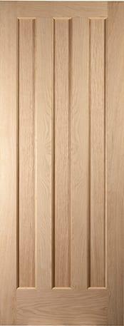 Aston white oak 3 panel door