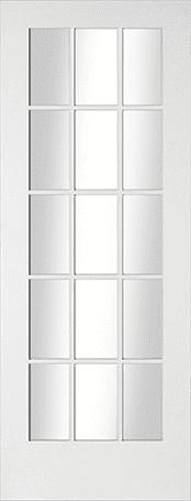 Avesta 15 light clear glazed door