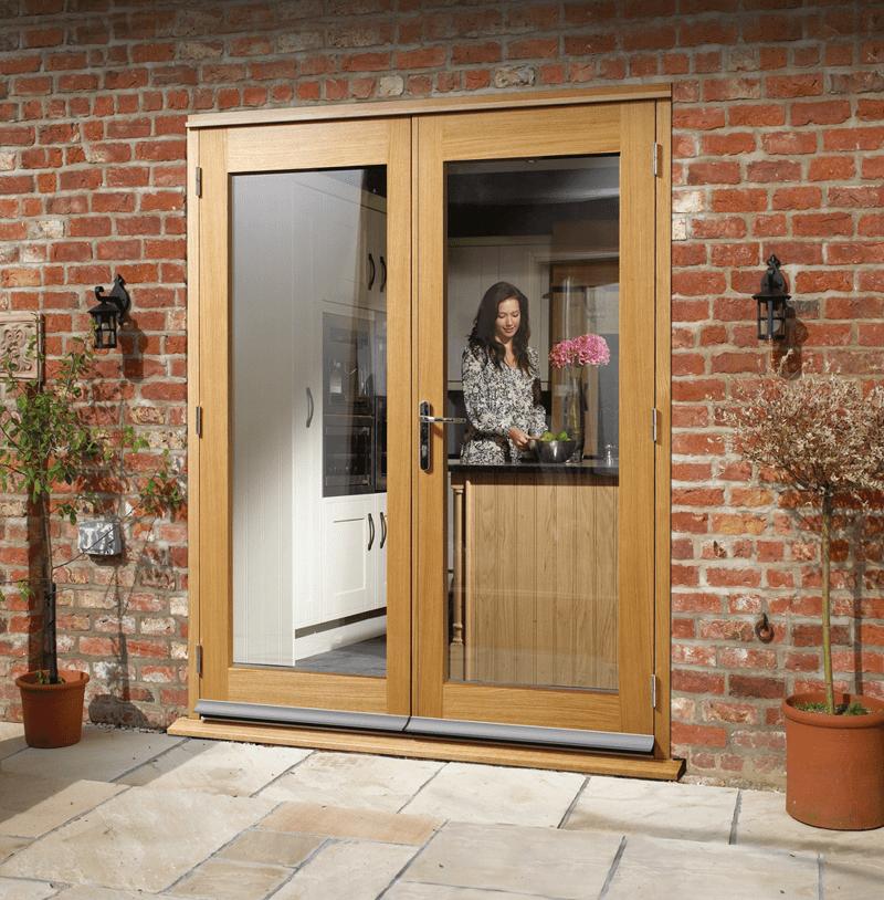 La Porte Oak French Doorset