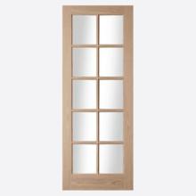 Oregon 10L Clear Glazed Oak Door