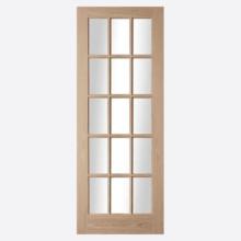 Oregon 15L Clear Glazed Oak Door